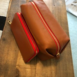 BRAND NEW JCREW leather wallet and make-up bag